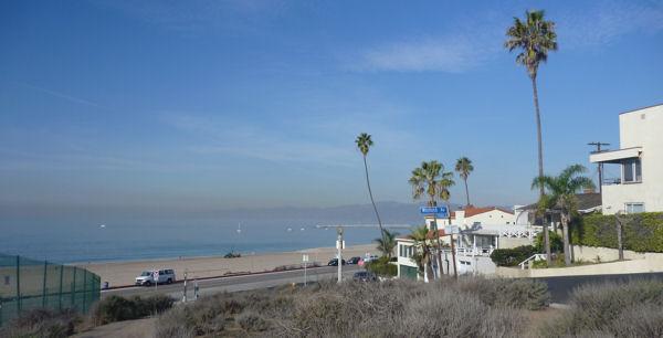 Flughafen Los Angeles und Strand
