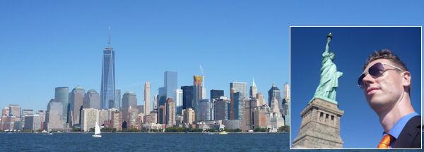 Freiheitsstatue und Freedom Tower