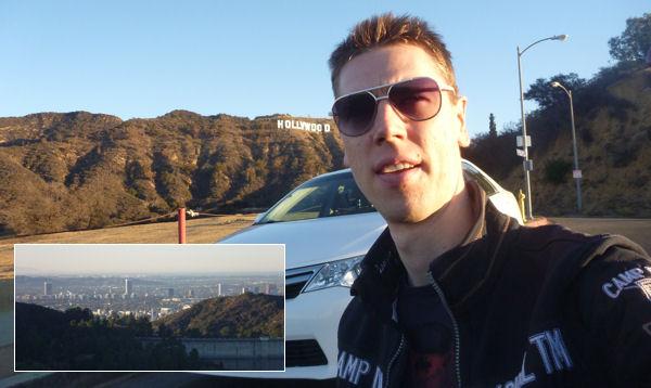 Hollywood Sign und Gregor