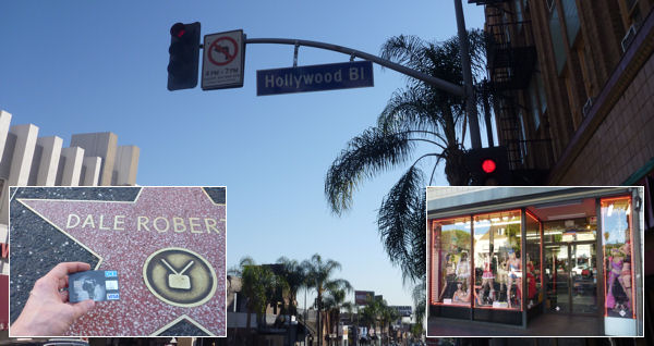 Hollywood Bl and Walk of Fame