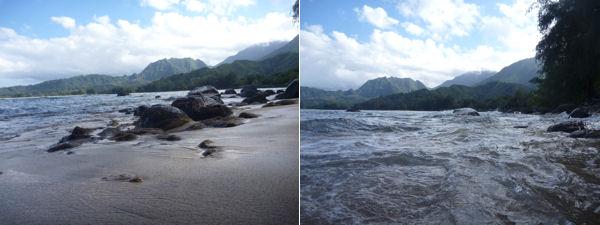 Kauai Ozean Wellen