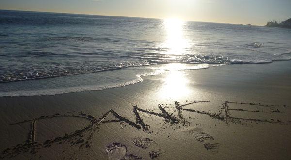 Danke am Strand