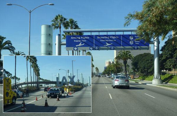 Zufahrt zum Flughafen Los Angeles