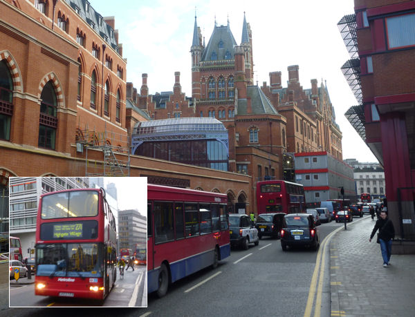 Busse und Taxis in London