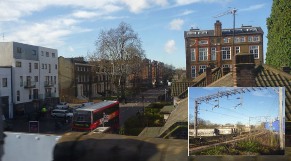 Vorort von London (Foto aus dem Zug)