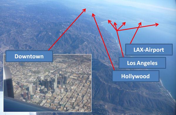 Los Angeles von oben.