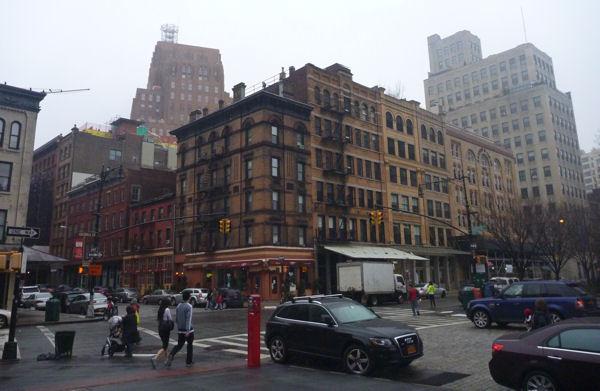 Ganz normale Straßenecke im Süden von Manhattan