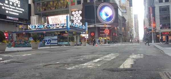 Straßenschäden auf dem Times Square