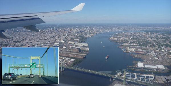 Brücke zwischen Philadelphia und New Jersey
