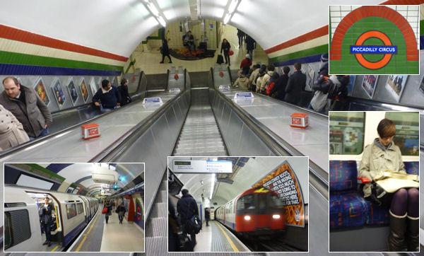 U-Bahn (Tube) am Piccadilly Circus