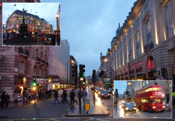 Piccadilly Circus: Pigalle und Bus