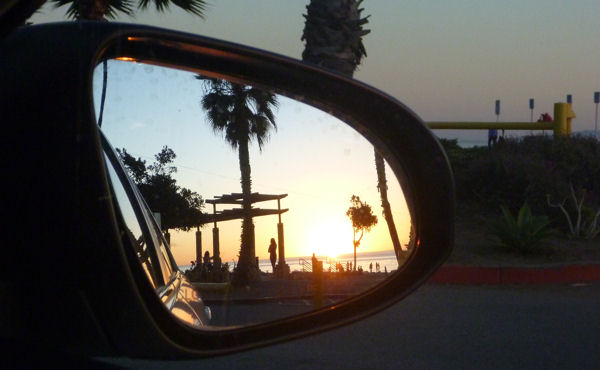 Sonnenuntergang auf dem Pacific Coast Highway