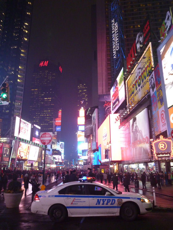 Times Square NYC mit NYPD