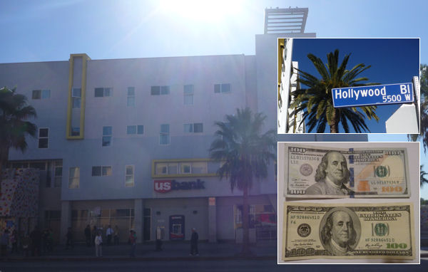 US Bank am Hollywood Boulevard in Los Angeles