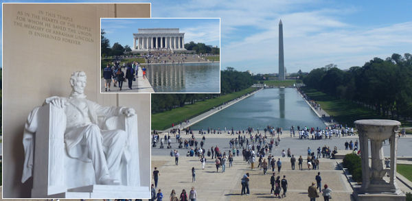 Washington Monument und Lincoln Memorial