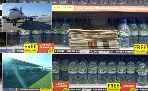 Zeitung + Flasche Wasser umsonst