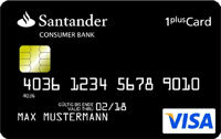 1 Plus Visa Card Santander