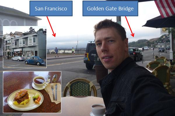 Sausalito Bridgeway breakfast