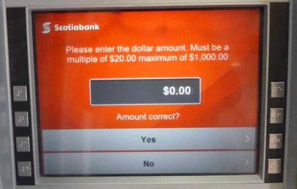 ATM der Scotiabank
