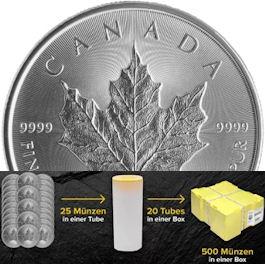 Silbermünze mit Box