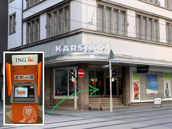 ING Automat München Bahnhofsplatz