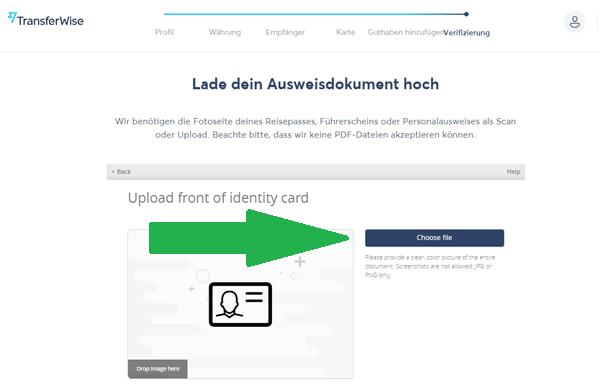 Transferwise Borderless Account beantragen 13