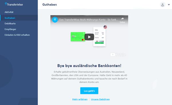 Transferwise Borderless Account beantragen 4