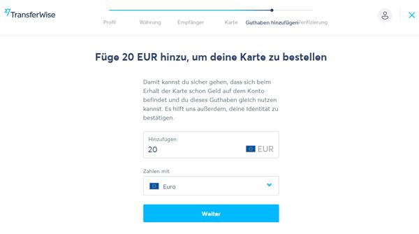 Transferwise Borderless Account beantragen 9