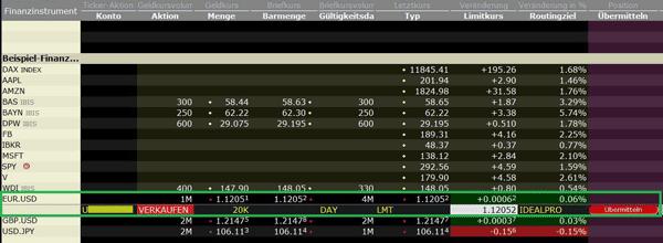 Captrader Euro gegen USD tauschen 4