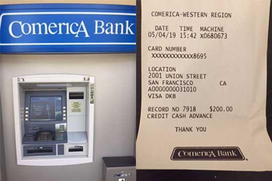 Geld abheben Comerica Bank