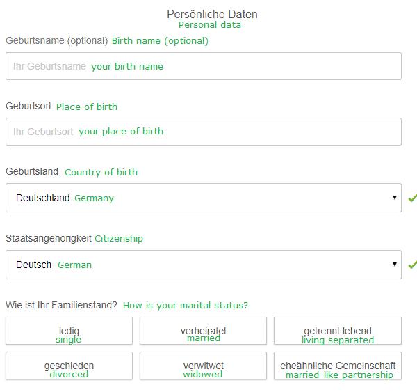 personal data ING loan