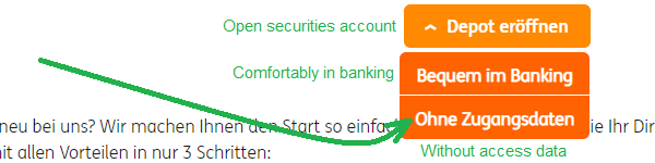 ING ING opening securities account without access data