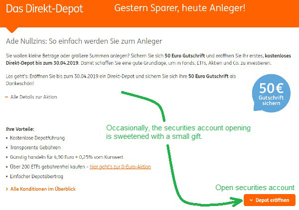ING opening securities account