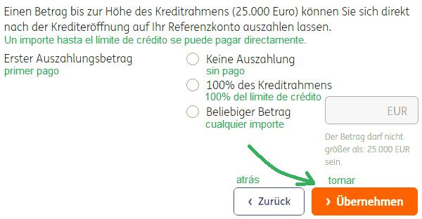 línea de crédito pagar