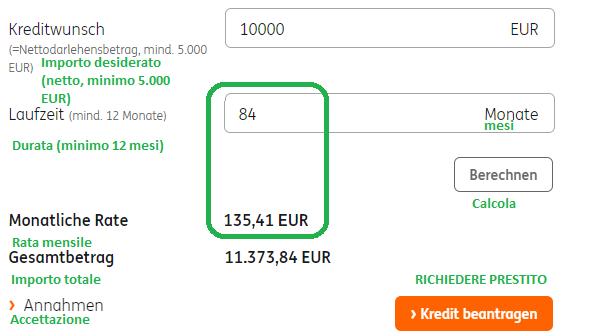 Richiedi un credito rateale con ING-DiBa