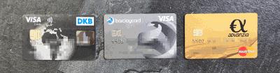 Karten Design DKB Visa Advanzia Barclaycard
