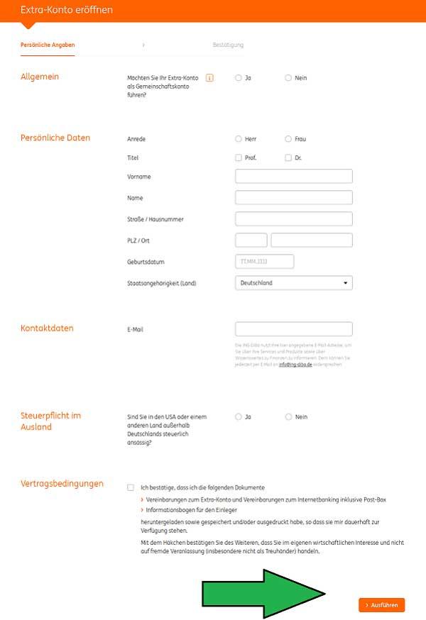 Kontoeröffnung bei der ING-DiBa Teil 2