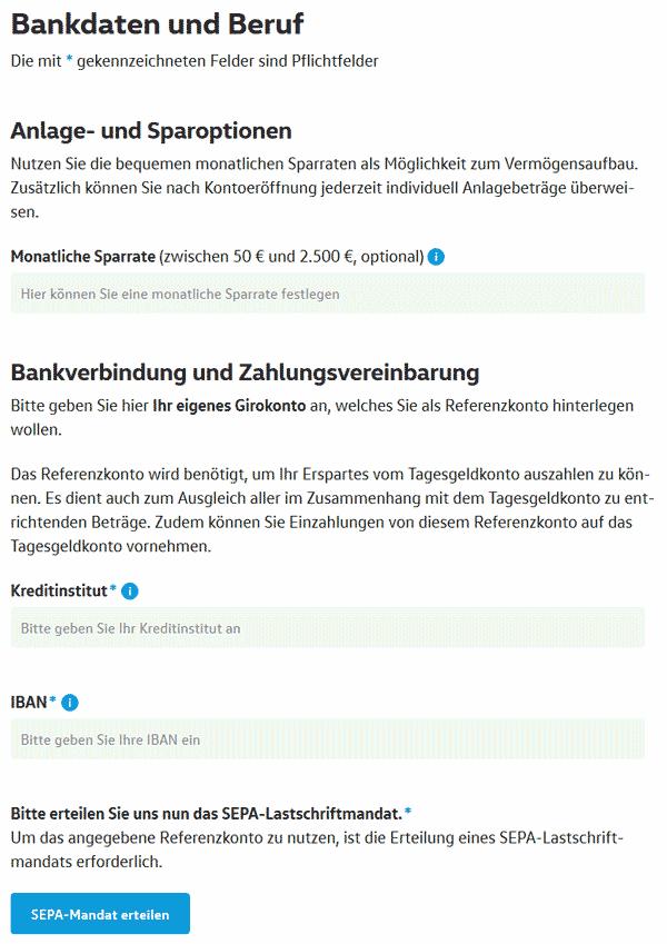 Volkswagenbank Tagesgeldkonto eröffnen 4
