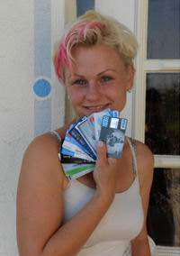 Tanja and her cards