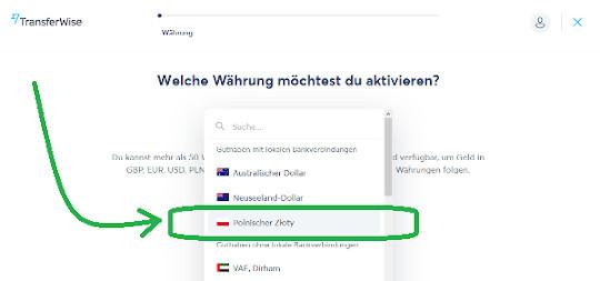 PLN Konto von TransferWise