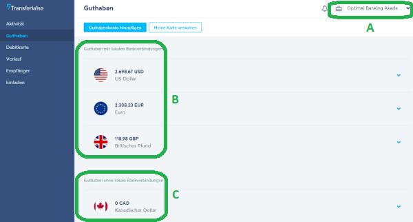 Счета в иностранных валютах