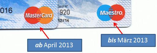Unterschied zwischen der Travel Cash Card Maestro und Mastercard