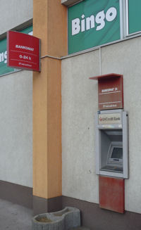 ATM der Unicredit in Bosnien