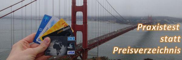 Kreditkarten zur Bargeldversorgung in den USA getestet