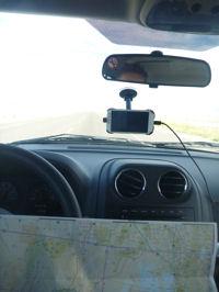 Landkarte im Auto (USA)