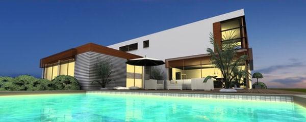 Luxus-Haus mit Schwimmbecken