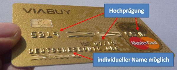 Viabuy tarjeta de crédito con nombre de encargo