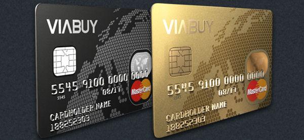 Viabuy Mastercard czarnej i złotej