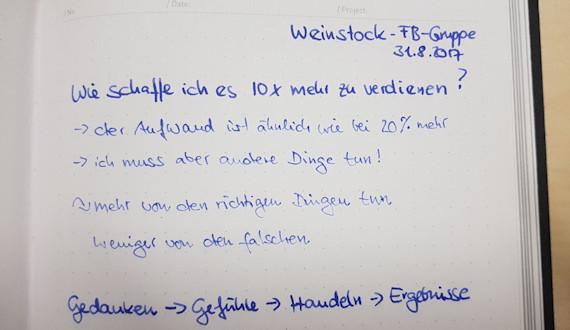 Weinstock Notizen