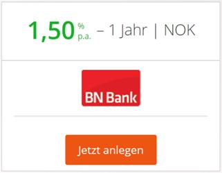 BN Bank bei Weltsparen